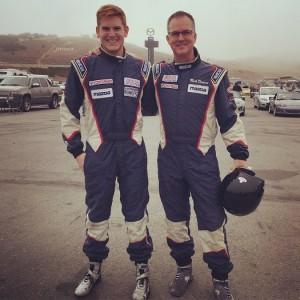 Filippi and Drennan at Mazda Raceway Laguna Seca